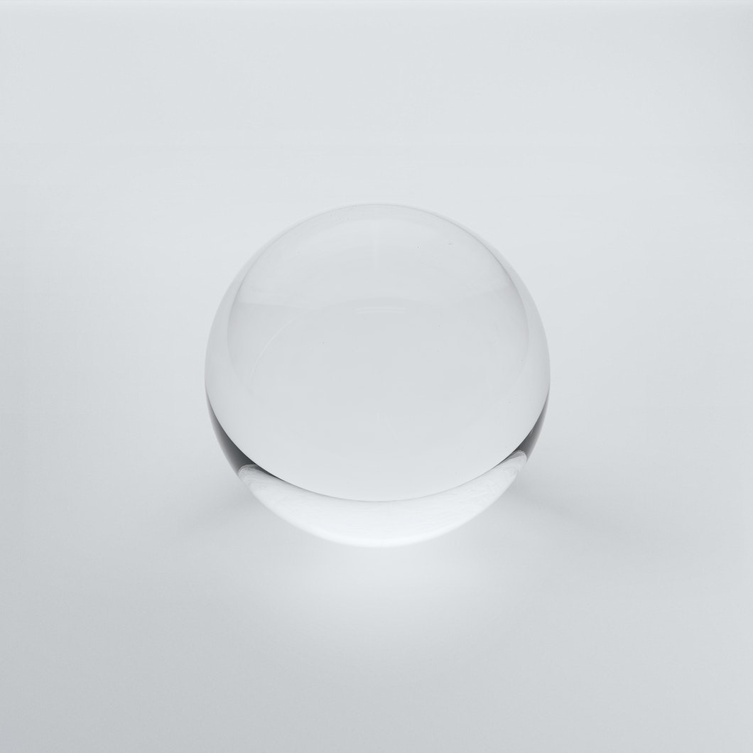 Clear Solid Glass Orb