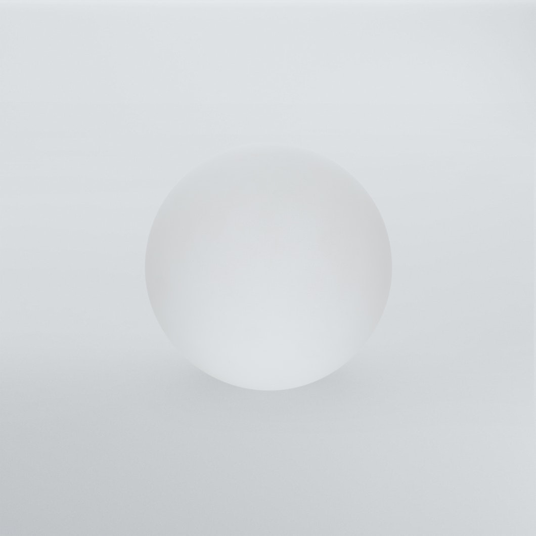 Frosted Solid Glass Orb