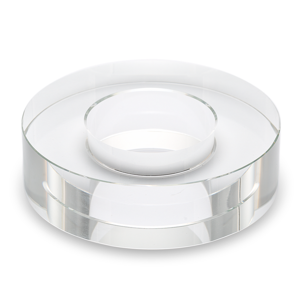 Clear Solid Glass Disc