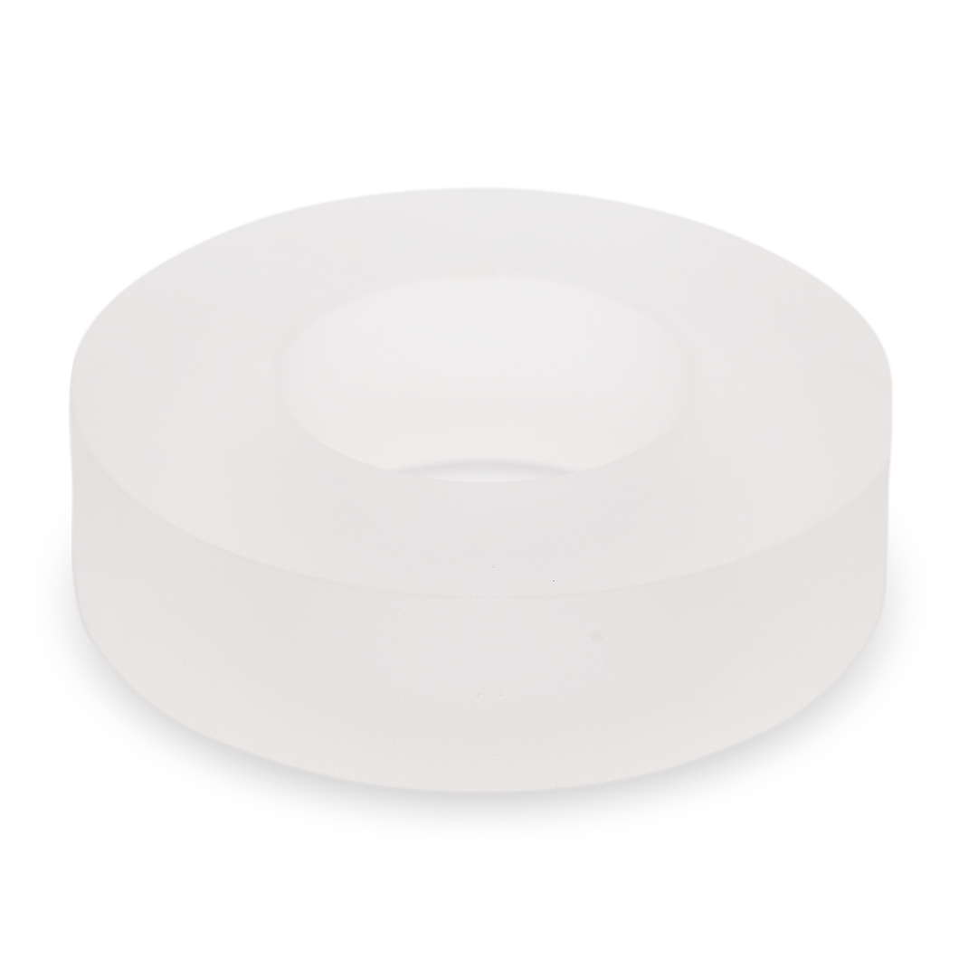 Frosted Solid Glass Disc